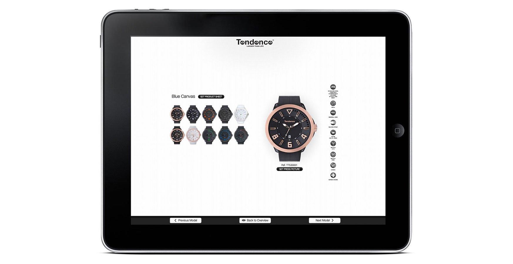 Tendence App design